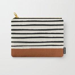 Burnt Orange x Stripes Tasche