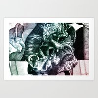 Mask in Color Art Print
