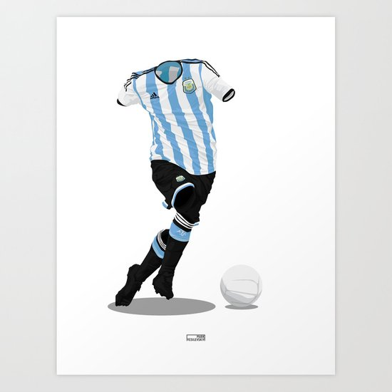 Argentina - World Cup 2014 Finalists  Art Print