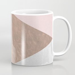 Geo tri - rose gold & concrete Coffee Mug