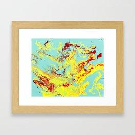 Splashing Down Framed Art Print