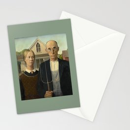 American Gothic by Grant Wood Stationery Cards