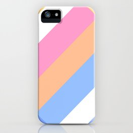 Matted Pastel Rainbow with White iPhone Case