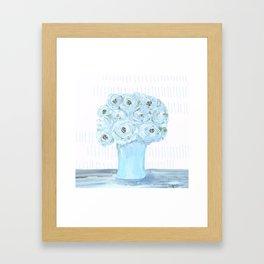 Boho still life flowers in vase Framed Art Print