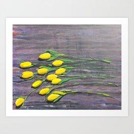 """""""Yellow Tulips"""" Art Print"""