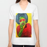 fleetwood mac V-neck T-shirts featuring MAC by Yaz's Gallery