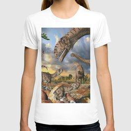 Jurassic dinosaurs being born T-shirt