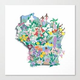 Wisconsin Wildflowers Canvas Print