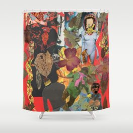 Red hens and many others and more..... Shower Curtain