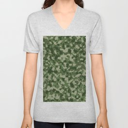 Military Jungle Green Camouflage Unisex V-Neck