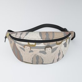 Retro Male Swimmers Fanny Pack