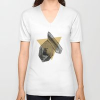 crystals V-neck T-shirts featuring crystals by morgan kendall