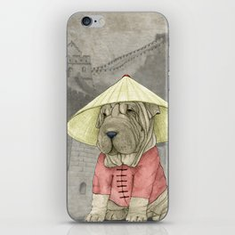 Shar Pei on the Great Wall iPhone Skin