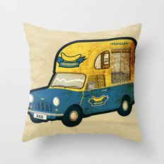 PEPISANG Banana Mobil Throw Pillow
