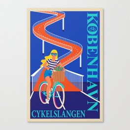 Københavns Cykelslangen Canvas Print