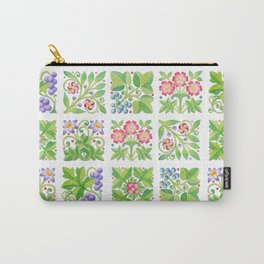 Tudor Flowers Carry-All Pouch