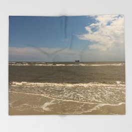 St Simons Island Beach Throw Blanket