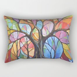 Abstract Art Landscape Original Painting ... Colors of the Wind Rectangular Pillow