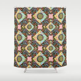 Boho Chic Patchwork Shower Curtain