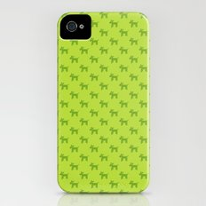 Dogs-Green iPhone (4, 4s) Slim Case