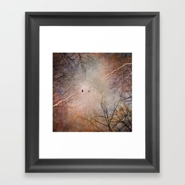 Looking Within - Dramatic sky with birds and trees photo art Framed Art Print