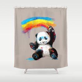 Giant Painter Shower Curtain