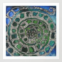 Spiral Turtle Art Print