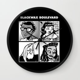 Blackwax Boulevard Album Cover  Wall Clock
