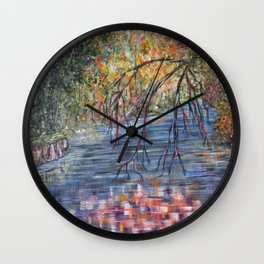 Lazy River Days Wall Clock