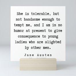 59   | Jane Austen Quotes | 190722 Mini Art Print