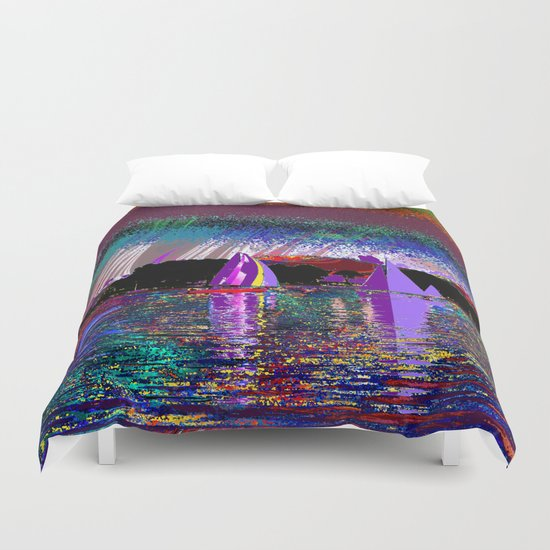sailing today Duvet Cover