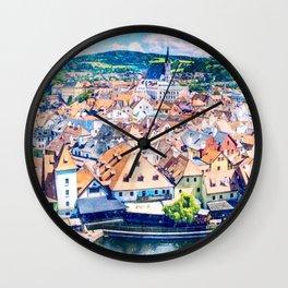 Ceský Krumlov Wall Clock