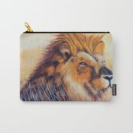 Lion sun bathing | Bain de soleil Lion Carry-All Pouch