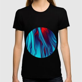Teal With Red, Streaming T-shirt