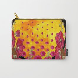 SURREAL HOLLYHOCKS RISING GOLDEN MOON PATTERN Carry-All Pouch