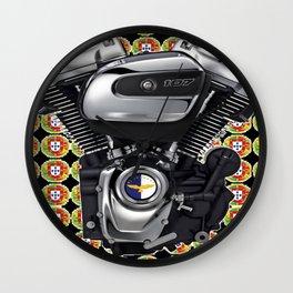 Portuguese Biker Collage Wall Clock