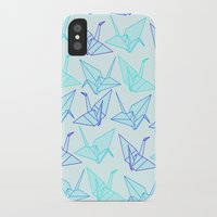 origami iPhone & iPod Cases featuring Origami by StudioBlueRoom