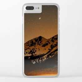 Mountains at night series III // Boulder CO Clear iPhone Case
