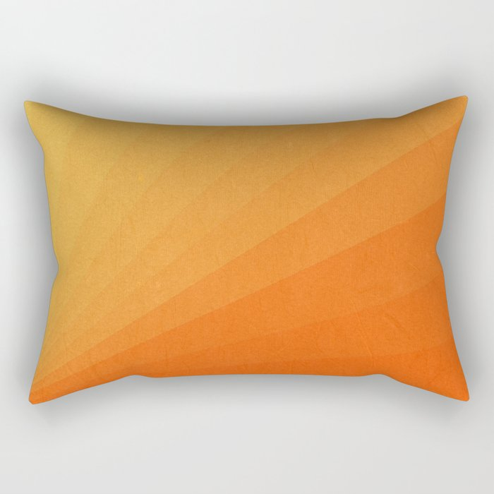 Shades of Sun - Line Gradient Pattern between Light Orange and Pale Orange Rectangular Pillow