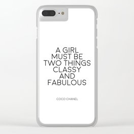 Girls Room Decor Girly Gifts Women Gift Fashion Art Fashion Print Quotes Fashion Wall Art Printable Clear iPhone Case
