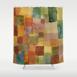 """Paul Klee """"Untitled 1914a"""" Shower Curtain"""
