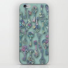 Pastel Skeleton Keys iPhone & iPod Skin
