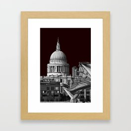 St Pauls Cathederal, London. B&W Framed Art Print