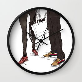 Mismatched, But Not Incompatible by Kat Mills Wall Clock