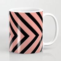 greek Mugs featuring Peachy Greek by Lyle Hatch