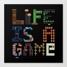 Life is a game. Canvas Print