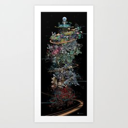 Chronogram Library of Paradises Art Print