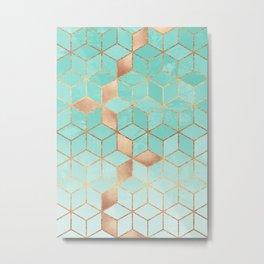 Soft Gradient Aquamarine Metal Print