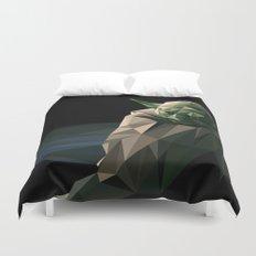 Geometric Yoda Duvet Cover