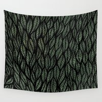 leaf Wall Tapestries featuring Leaf by SarahKdesigns